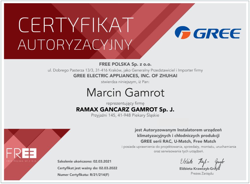 certyfikat RAMAX 3